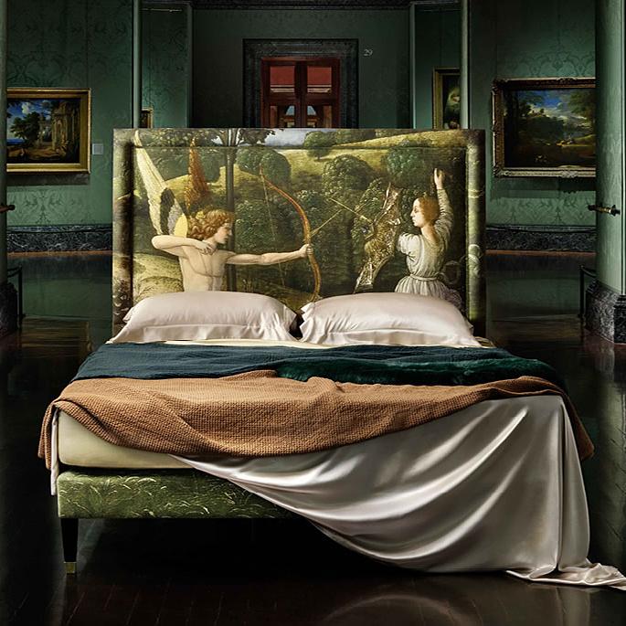 Festményekből készített ágyak